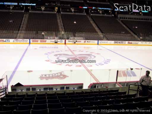 Seat view from section 102 at the Pepsi Center, home of the Colorado Avalanche