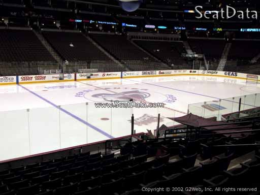 Seat view from section 104 at the Pepsi Center, home of the Colorado Avalanche