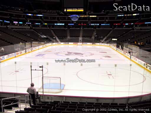 Seat view from section 112 at the Pepsi Center, home of the Colorado Avalanche