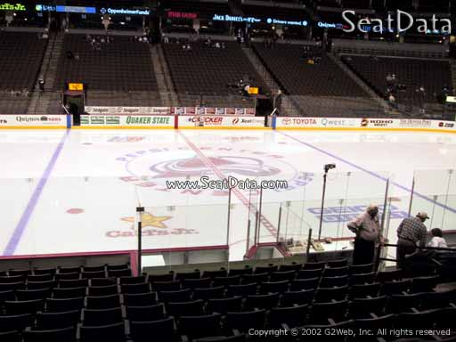 Seat view from section 126 at the Pepsi Center, home of the Colorado Avalanche
