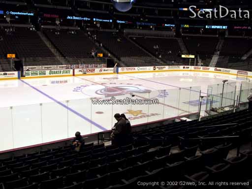 Seat view from section 128 at the Pepsi Center, home of the Colorado Avalanche