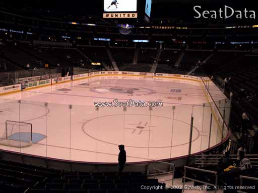 Seat view from section 134 at the Pepsi Center, home of the Colorado Avalanche