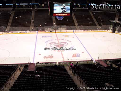 Seat view from section 202 at the Pepsi Center, home of the Colorado Avalanche