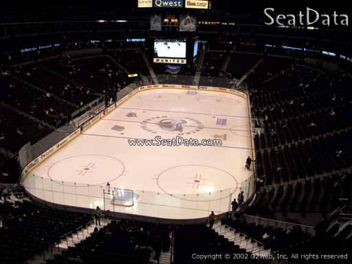 Seat view from section 244 at the Pepsi Center, home of the Colorado Avalanche