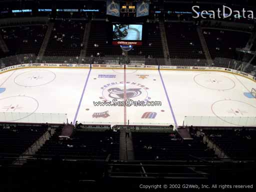 Seat view from section 302 at the Pepsi Center, home of the Colorado Avalanche