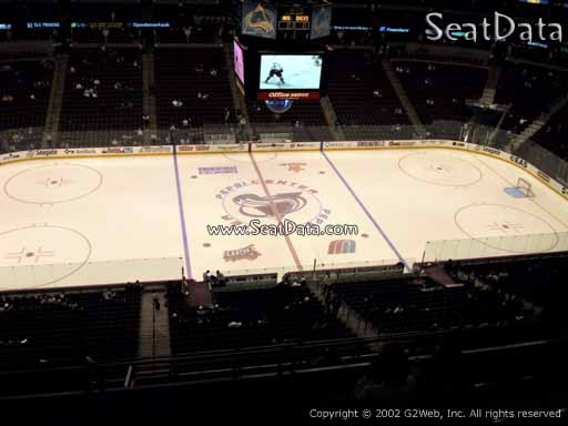 Seat view from section 303 at the Pepsi Center, home of the Colorado Avalanche