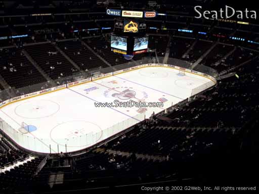 Seat view from section 311 at the Pepsi Center, home of the Colorado Avalanche