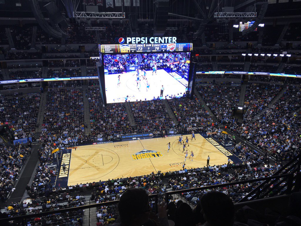 View of the Court from the Upper Level at the Pepsi Center, Home of the Denver Nuggets