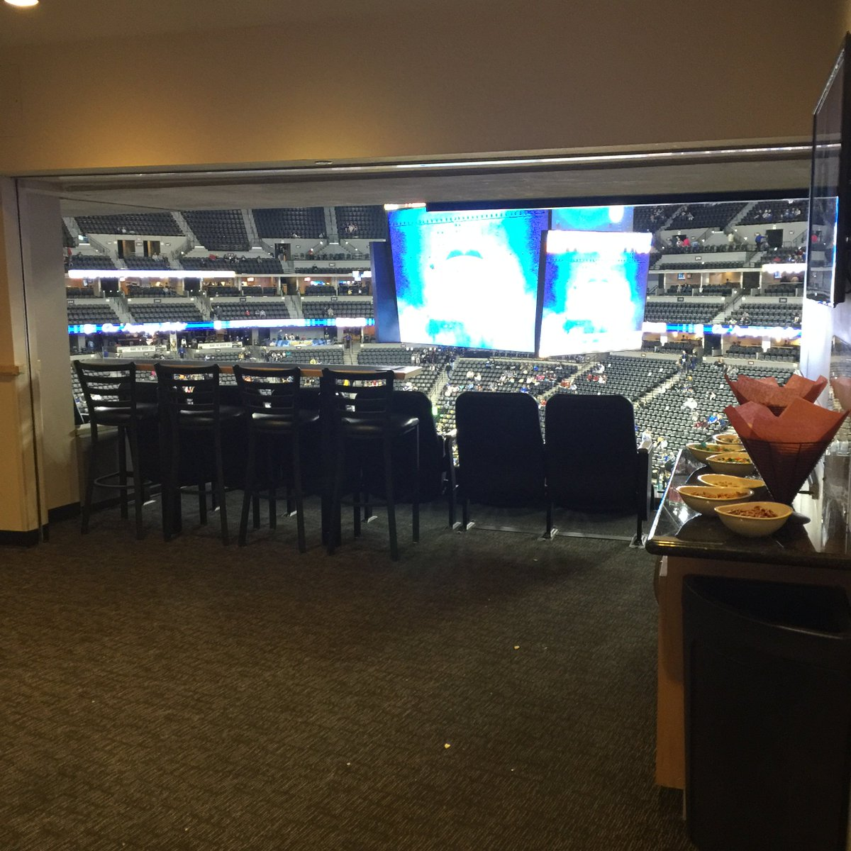 Interior View of a  Suite at the Pepsi Center, home of the Denver Nuggets and Colorado Avalanche