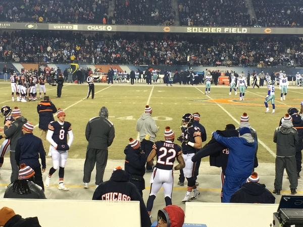View from the Mezzanine Seats at Soldier Field