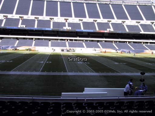 Seat view from section 110 at Soldier Field, home of the Chicago Bears