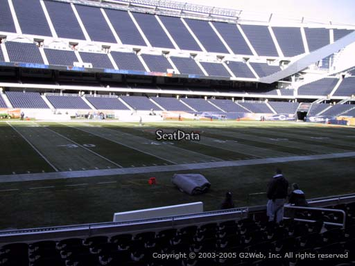 Seat view from section 112 at Soldier Field, home of the Chicago Bears