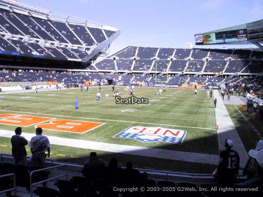 Seat view from section 120 at Soldier Field, home of the Chicago Bears