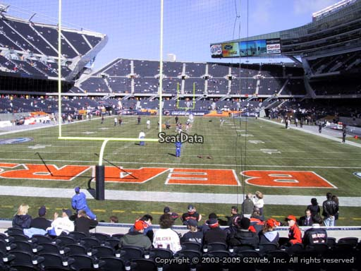 Seat view from section 122 at Soldier Field, home of the Chicago Bears