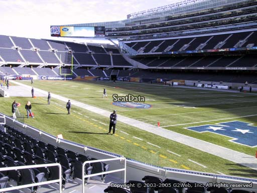 Seat view from section 128 at Soldier Field, home of the Chicago Bears