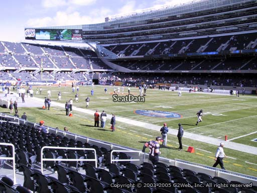 Seat view from section 130 at Soldier Field, home of the Chicago Bears