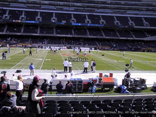 Seat view from section 138 at Soldier Field, home of the Chicago Bears