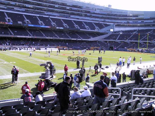 Seat view from section 142 at Soldier Field, home of the Chicago Bears