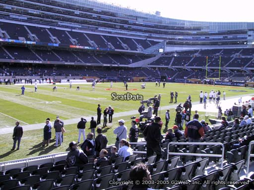 Seat view from section 143 at Soldier Field, home of the Chicago Bears