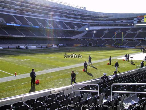 Seat view from section 144 at Soldier Field, home of the Chicago Bears