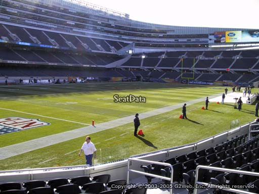 Seat view from section 146 at Soldier Field, home of the Chicago Bears