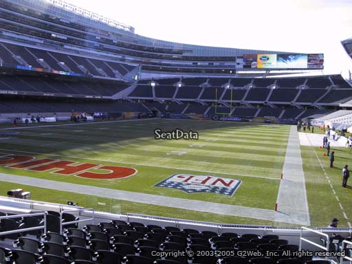 Seat view from section 149 at Soldier Field, home of the Chicago Bears
