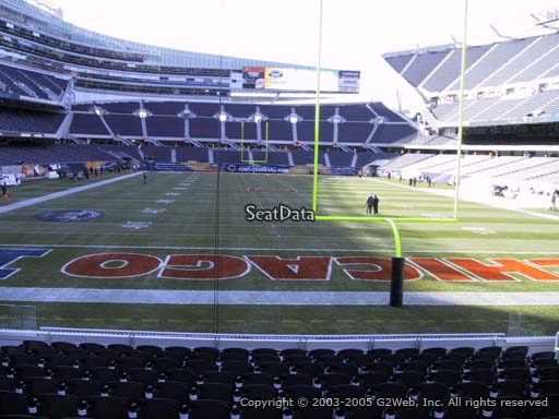 Seat view from section 152 at Soldier Field, home of the Chicago Bears