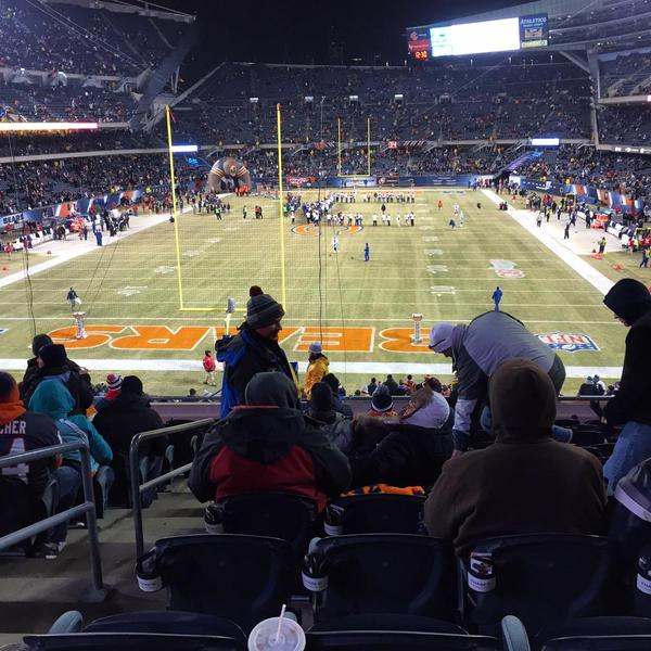 View from the 200 level endzone at Soldier Field