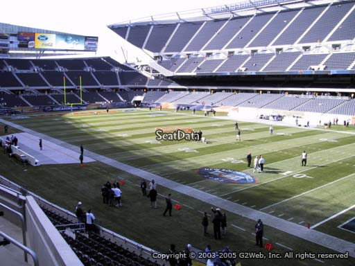Seat view from section 203 at Soldier Field, home of the Chicago Bears