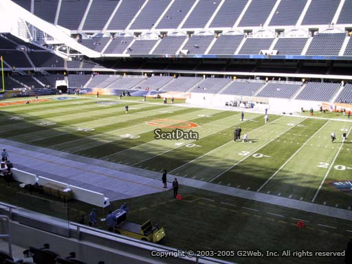 Seat view from section 206 at Soldier Field, home of the Chicago Bears