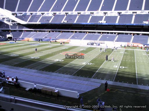 Seat view from section 207 at Soldier Field, home of the Chicago Bears