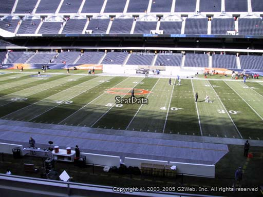 Seat view from section 208 at Soldier Field, home of the Chicago Bears