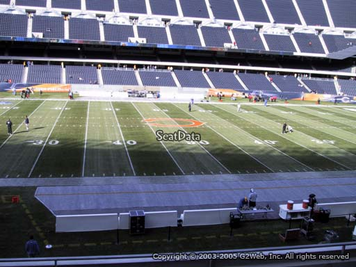 Seat view from section 210 at Soldier Field, home of the Chicago Bears