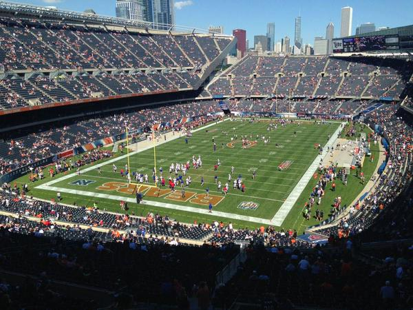 View from the 300 level endzone at Soldier Field