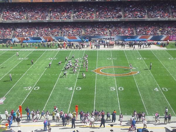View from the Media Deck at Soldier Field
