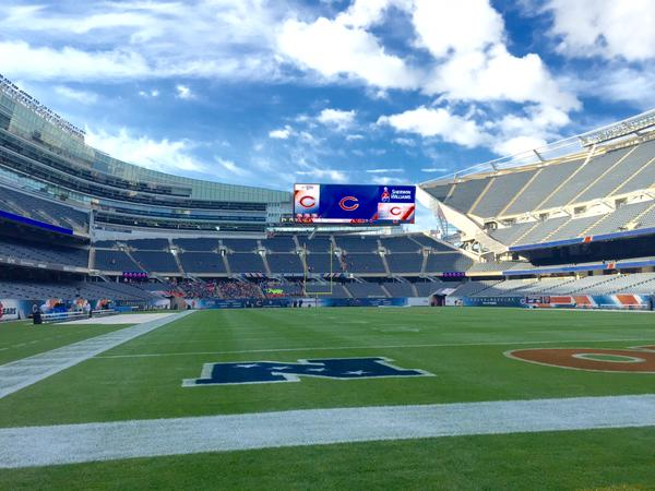 View from the Lower Level Grandstand at Soldier Field