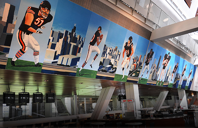 View of the United Club lounge at Soldier Field