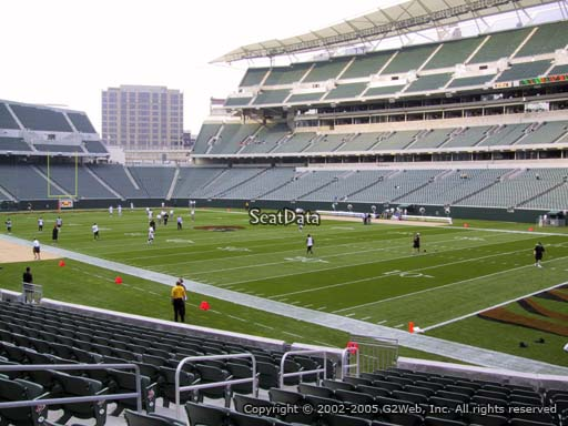 Seat view from section 102 at Paul Brown Stadium, home of the Cincinnati Bengals