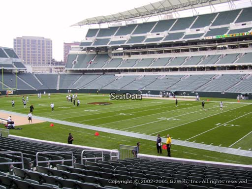 Seat view from section 104 at Paul Brown Stadium, home of the Cincinnati Bengals
