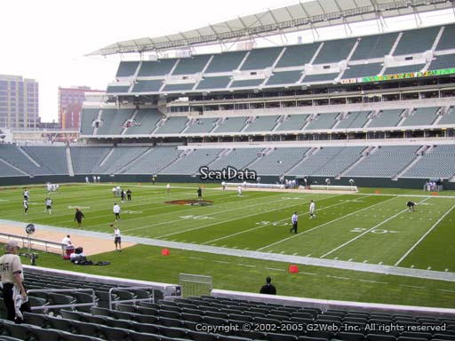 Seat view from section 106 at Paul Brown Stadium, home of the Cincinnati Bengals