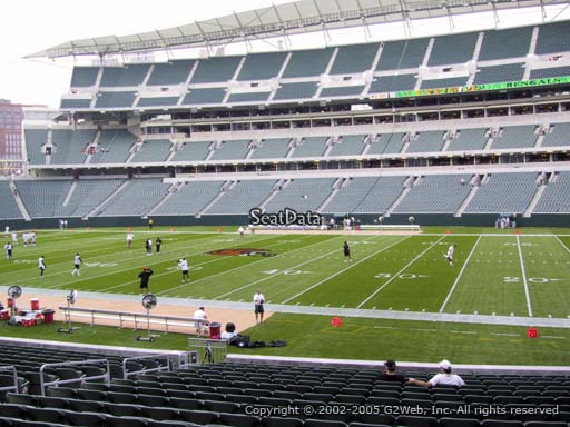 Seat view from section 108 at Paul Brown Stadium, home of the Cincinnati Bengals