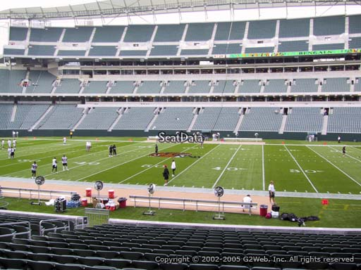 Seat view from section 109 at Paul Brown Stadium, home of the Cincinnati Bengals