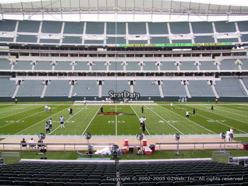 Seat view from section 110 at Paul Brown Stadium, home of the Cincinnati Bengals