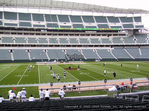 Seat view from section 111 at Paul Brown Stadium, home of the Cincinnati Bengals