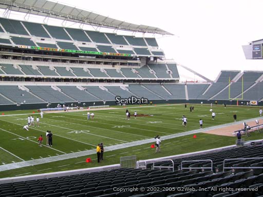 Seat view from section 116 at Paul Brown Stadium, home of the Cincinnati Bengals