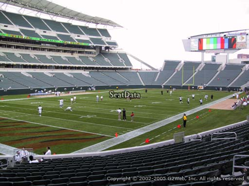 Seat view from section 119 at Paul Brown Stadium, home of the Cincinnati Bengals