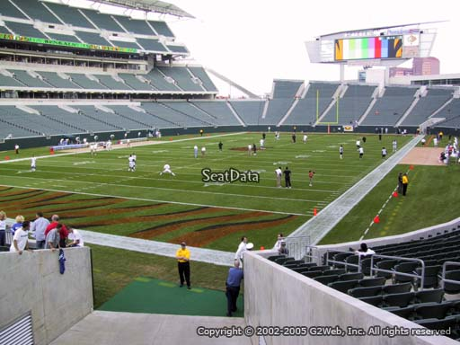 Seat view from section 120 at Paul Brown Stadium, home of the Cincinnati Bengals