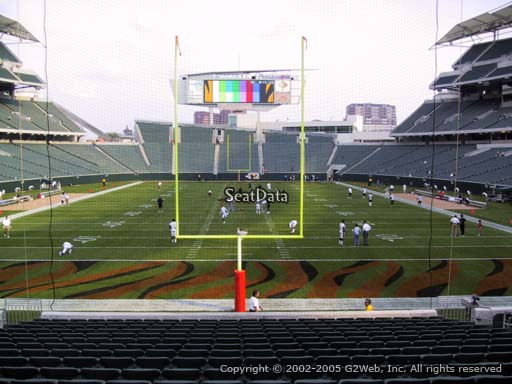 Seat view from section 126 at Paul Brown Stadium, home of the Cincinnati Bengals