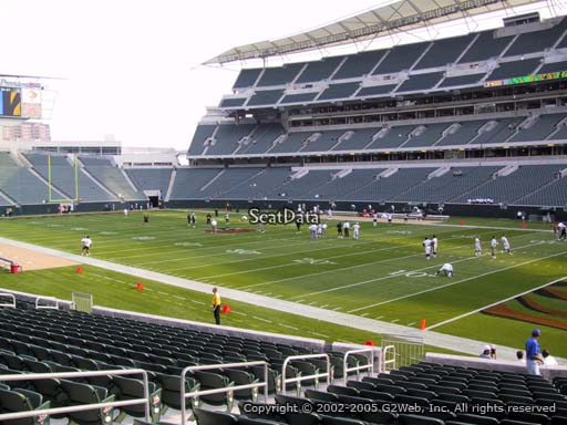 Seat view from section 132 at Paul Brown Stadium, home of the Cincinnati Bengals