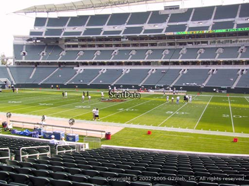 Seat view from section 138 at Paul Brown Stadium, home of the Cincinnati Bengals